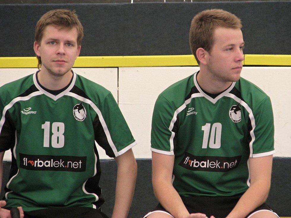 Jan Valočík (vlevo) a Jiří Planý před zápasem.