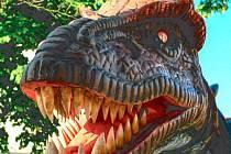 Tyranosaurus Beruška je oblíbenou atrakcí jarmarků a nebude chybět ani v sobotu v Krnově.
