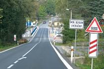 Tah z Olomoucka na Opavu je už v Ondrášově, místní části Moravského Berouna, průjezdný.