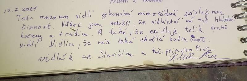 Lichnov, Muzeum vidlí 22.7.2021. Vidlák ze Slavičína Zdeněk Hřib a vidlák z Lichnova Jan Gemela se konečně setkali osobně.