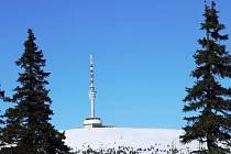 Nejvyšší vrchol Jeseníků hora Praděd