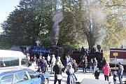 Oslavy výročí 120 let osoblažské úzkokolejky v Třemešné.