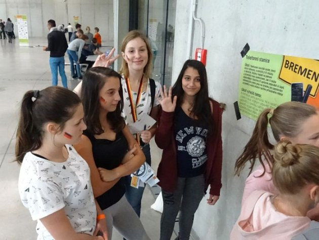 Mladí němčináři z Rýmařova si v Ostravě užili hru Autobahn.
