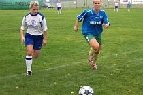 Fotbalistky bruntálské Olympie v akci.