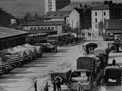 Okupační armáda v Krnově.