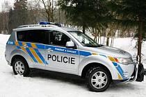 O nové terénní Mitshubisi Outlander se rozrostl vozový park bruntálské policie.