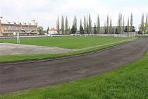 Atletický stadion v Krnově.