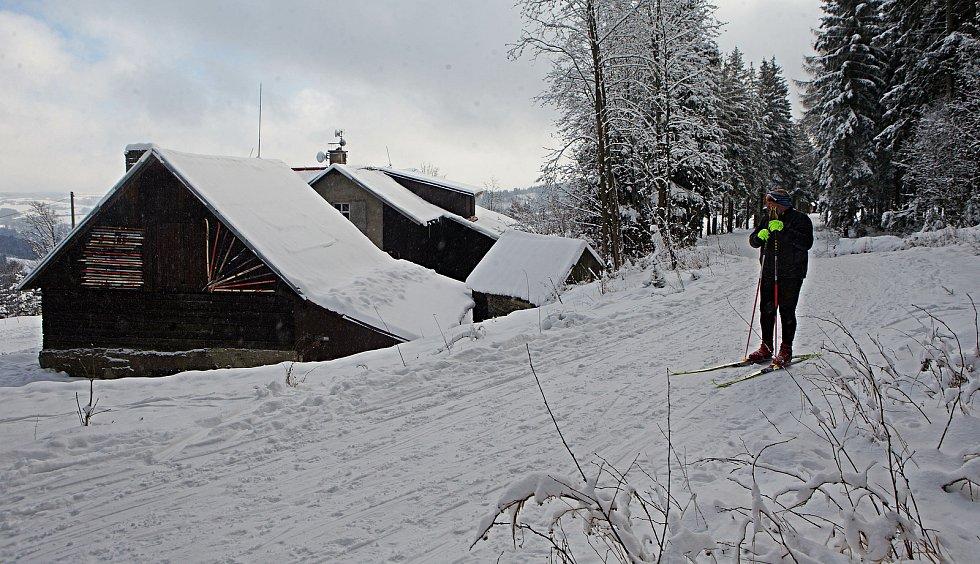 Běžkařský areál v Nové Vsi u Rýmařova.