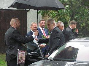 Prezident Miloš Zeman ve Slezských Pavlovicích