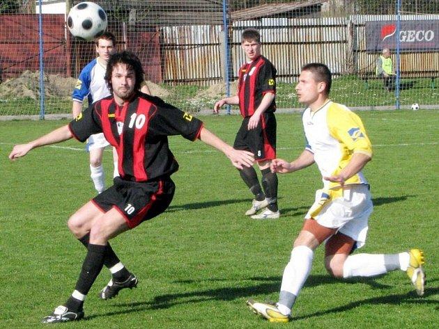 Fotbalová Jiskra v akci - ilustrační foto.