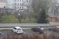Duben má pověst bláznivého měsíce, který může přinést libovolnou změnu počasí.  Na Krnovsko se po slunečné neděli a deštivém pondělí dostavila také úterní krátká sněhová přeháňka. Sněžilo do zahrad na rozkvetlé stromy, které  lákají opylovače. Do deseti m