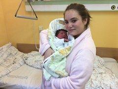 Carmen s maminkou. Holčička se narodila 1. ledna ve čtvrt na deset dopoledne.