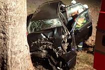 Dopravní nehoda ve Světlé Hoře.