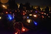 Krnovský hřbitov, říjen 2020.