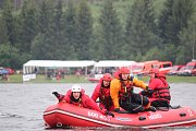 Na přehradě Slezská Harta proběhla soutěž ve vodním záchranářství.