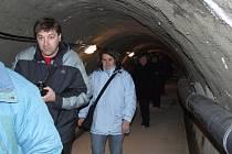 O atraktivní prohlídky nadzemních a zejména podzemních prostor hráze přehrady Slezská Harta byl velký zájem i v předchozích letech.