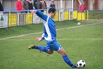 Fotbalisté Jiskry Rýmařov se ve druhém utkání jarní části soutěže prosadili na hřišti lídra ze Zlína a vybojovali bod.