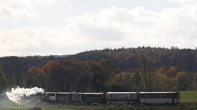 Parní vlak - Osoblaha
