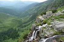 Pančavský vodopád a uchvacující pohled do Labského dolu.