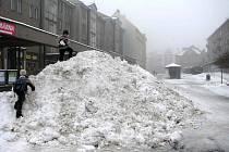 Zima udeřila i v Rýmařově.