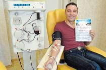Jan Jankůj z Krnova daroval krev během svého života již 65krát.