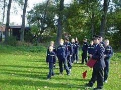 Mladí dobrovolní hasiči z Holčovic.