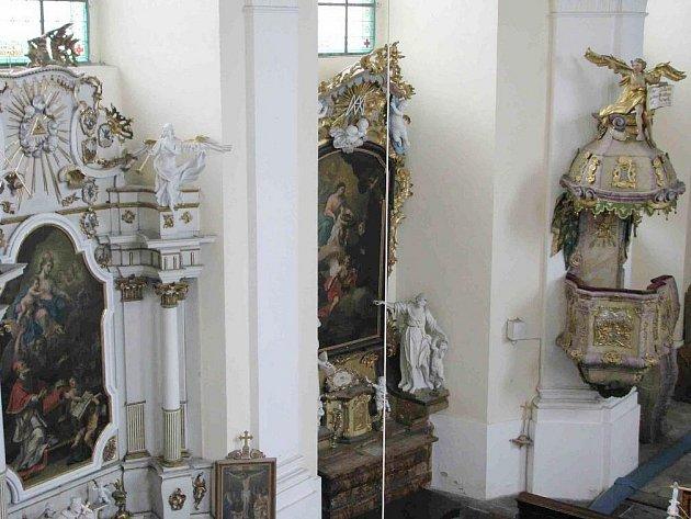 Do renovace interiérů kostela Pravoslavné církve svaté Panny Marie Těšitelky na Dukelské ulici v Bruntále se pustili žáci a učitelé Soukromého střediska praktického vyučování Renova z Milotic nad Opavou.