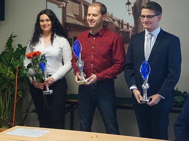 Matěj Rampula (vpravo) se dočkal dvojnásobného úspěchu vanketě Střelec roku 2017.
