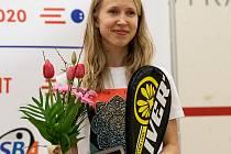 28. Mistrovství ČR ve squashi, vyhlášení vítězů, 8. března 2020 v Ostravě. Anna Serme.