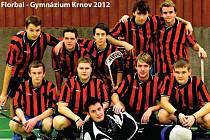 Vítězné florbalové družstvo Gymnázia Krnov.