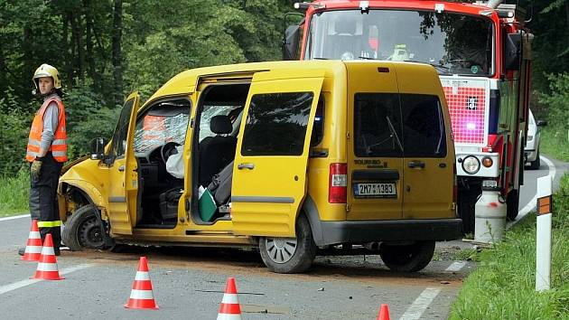 Dopravní nehoda mezi Dlouhou Loučkou a Rýmařovem.