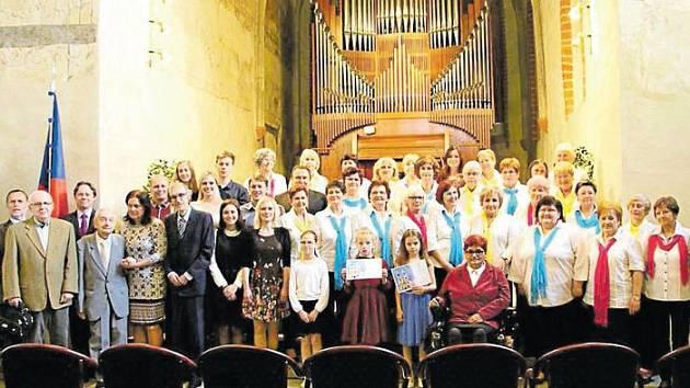 Slavnostní vyhlášení osobností kultury v Koncertní síni sv. Ducha.