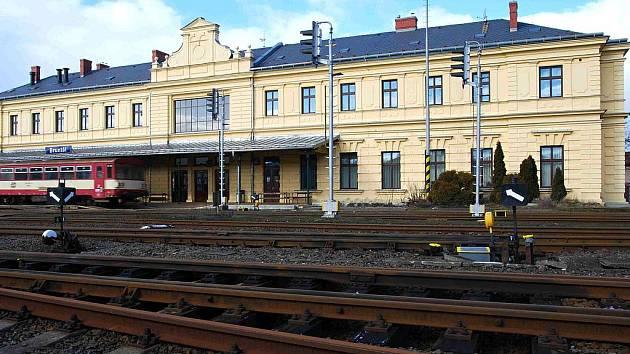 Výpravní budova železniční stanice v Bruntále