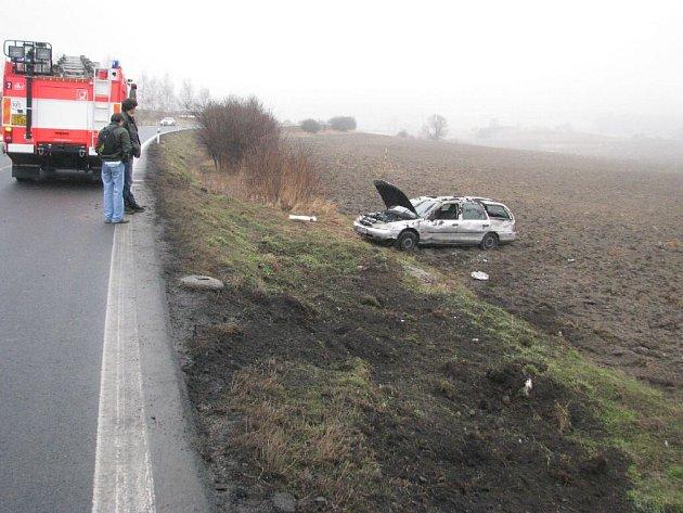 Zatím poslední nehoda se v linhartovských zatáčkách stala v pátek 6. března.