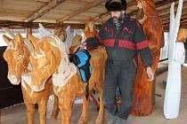 Největší dřevěný vyřezávaný betlém na světě mohou lidé vidět v Pradědově galerii U Halouzků v Jiříkově na Bruntálsku. Držitel rekordu, řezbář Jiří Halouzka, každý rok do betléma přidá několik soch. Letos vyřezal třiadvacet figur slonů a koní.