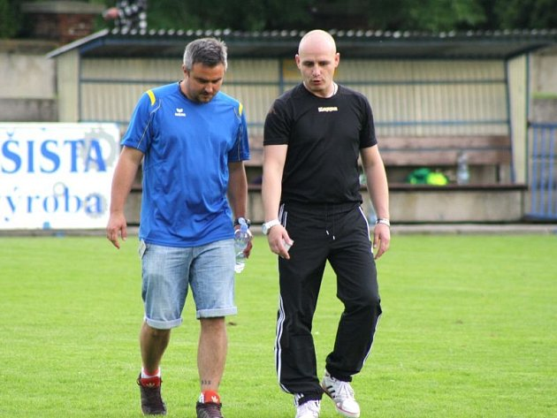 Petr Hrdlička (vpravo) a René Vojtěšek