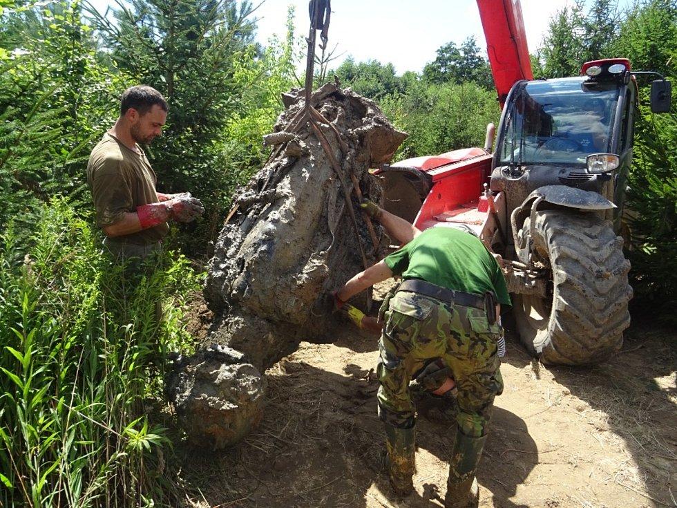 V lese u Karlova se podařilo vykopat a vyzvednout celý motor Šturmoviku. Po prozkoumání a konzervaci se stane exponátem muzea v Osoblaze.