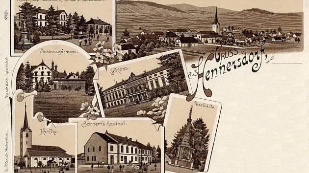 Pozdrav z Jindřichova. Pohlednice ze sbírky Jiřího Vybírala.