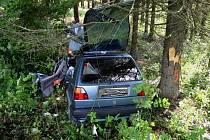 Smrtelná nehoda na silnici mezi Malou Morávkou a Dolní Moravicí.