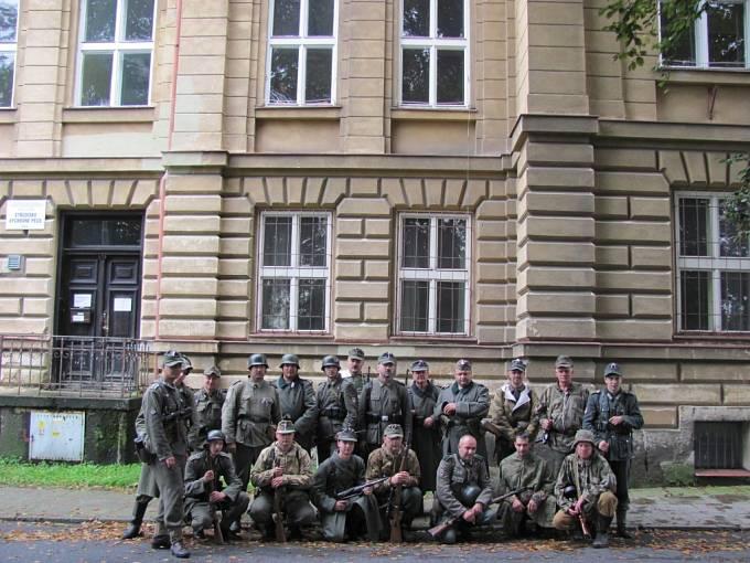 Natáčení filmu Vlasovci v Krnově.