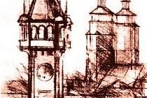 V díle Vladivoje Jindřicha se často objevovaly dominanty města. Krnovská radnice byla jednou z nich.