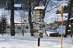 Ski areál Kopřivná v Jeseníkách hlásí výborné sněhové podmínky.  Únor 2021.
