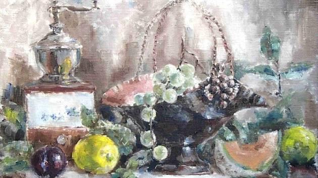 Babiččina mísa. Tak nazvala jedno ze svých děl Silvie Janotta Forsyth, která vystavuje od soboty v Karlovicích ve Slezsku.