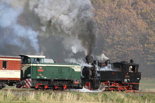Parní vlak - Osoblažsko