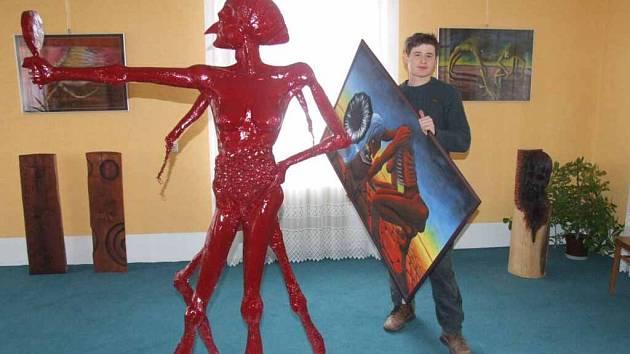 Vernisáž umělce Lubomíra Otiska proběhla v Lichnově.