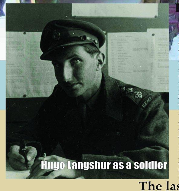 Hugo Langshur  britskou vojenskou uniformu oblékl vroce 1943.