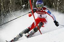 Obří slalom.
