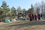 Zimní táboření v Úvalně.