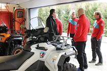 Nová stanice horské služby v Karlově pod Pradědem. Odtud budou záchranáři vyrážet k zásahům na pomoc turistům či zraněným lyžařům.