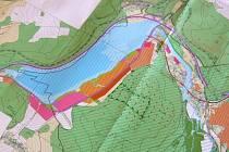 Takto by mohla vypadat vodní hladina přehrady v Nových Heřminovech.